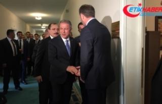 Milli Savunma Bakanı Hulusi Akar MHP grubunu ziyaret...
