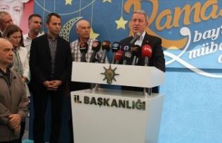 Milli Savunma Bakanı Akar: Bu asil milletimizi terör...