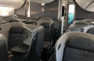 THY'nin yeni uçağı 'B787-9 Dreamliner'...