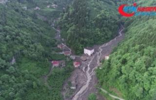 Trabzon'daki selde 11 bina yıkıldı, 14 bina ağır...
