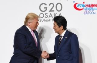 Trump ve Abe G20'de bir araya geldi