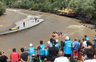 Tunceli'deki Dünya Rafting Şampiyonası'nda...