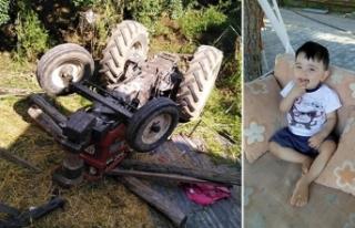 Üzerinde oynadıkları traktör devrildi, Enes öldü,...