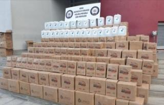 Adana'da 2 bin 395 litre etil alkol ele geçirildi