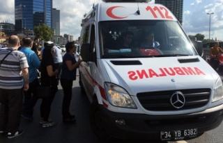 Beşiktaş'ta trafik polisine çarpan taksici...