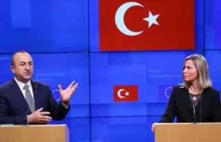 Çavuşoğlu ile Mogherini Doğu Akdeniz'i görüştü