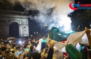 Cezayirliler şampiyonluğu kutladı, 198 kişi gözaltına...