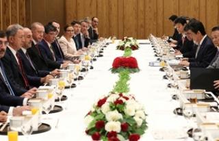 Cumhurbaşkanı Erdoğan, Japonya Başbakanı Abe...