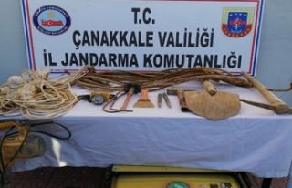 İzinsiz kazı yapan 6 kişi gözaltına alındı