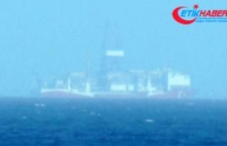 Kıbrıs açıklarındaki Yavuz sondaj gemisinden...