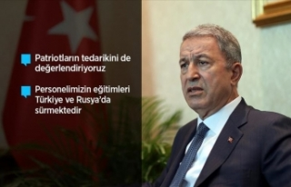 Milli Savunma Bakanı Akar: S-400 teslimat süreci...