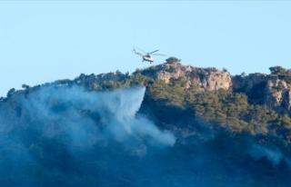 Muğla'da kontrol altına alınan orman yangınına...
