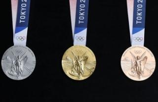 Olimpiyat madalyaları görücüye çıktı
