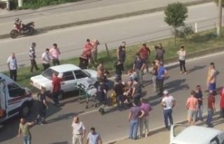 Otomobilin çarptığı yaşlı kadın yaralandı!