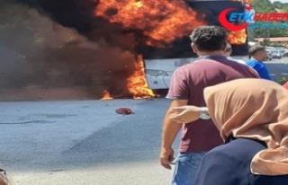 Balıkesir'de otobüs yandı: 5 ölü