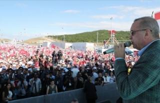 Cumhurbaşkanı Erdoğan: Şimdi de Fırat'ın...