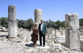 Cumhurbaşkanı Erdoğan Stratonikeia Antik Kenti'ni...