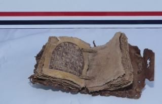 Diyarbakır'da Roma dönemine ait altın yazmalı...