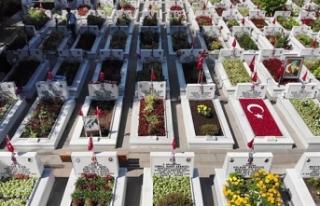 Edirnekapı Şehitliği'nde Kurban Bayramı arifesinde...