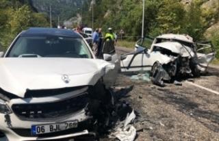 Karabük'te feci kaza: 2 ölü, 7 yaralı