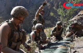 Kıran Operasyonu'nda PKK'ya ait silah ve...