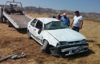 Kontrolden çıkan otomobil takla attı: 1 ağır...