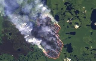 NASA, Amazon yangınlarını uzaydan görüntüledi