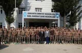 Osmaniye'den özel harekat polisleri Hakkari'ye...