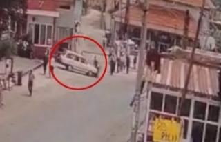Otomobil ile motosikletin çarpıştığı kaza güvenlik...
