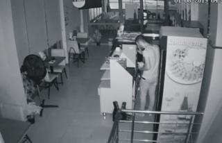 Pişkin hırsız soyduğu iş yerinde çiğ köfte...