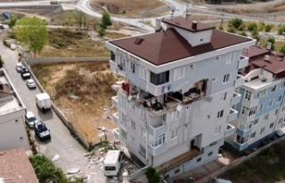 Sancaktepe'de patlamanın yaşandığı bina...