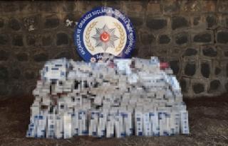 Şanlıurfa'da 11 bin 480 paket kaçak sigara...