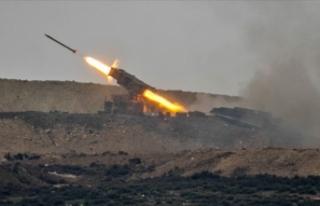 Suriye'nin Tel Rıfat bölgesinde terör hedefleri...