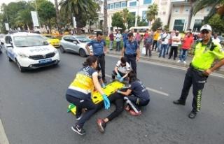 Vatan Caddesi'nde moto kurye kazası: 1 yaralı