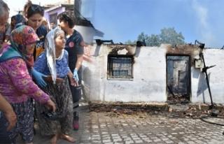 Yaşlı kadının evi gözlerinin önünde küle döndü