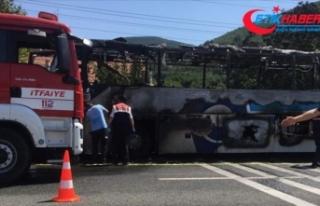 Yolcu otobüsündeki yangında ölenlerin kimlikleri...