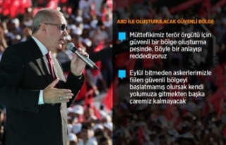 Cumhurbaşkanı Erdoğan: Eylül bitmeden güvenli...
