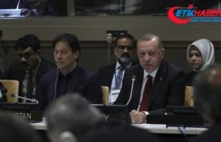 Erdoğan: Barış dini İslam'ı terörle bir...