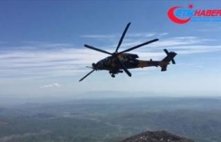 Fırat'ın doğusunda üçüncü ortak helikopter...