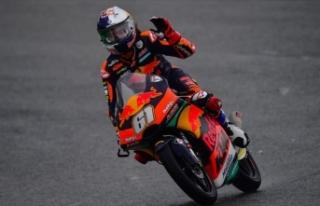 Milli motosikletçi Can Öncü antrenmanda kaza yaptı