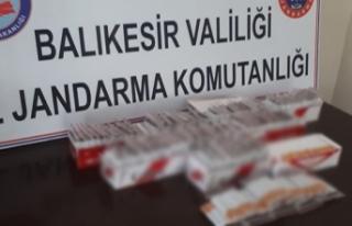 Sındırgı'da kaçak sigara operasyonu