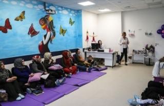 Ankara Şehir Hastanesinde gebe okulu hizmeti