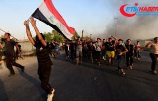 Bağdat'ta göstericilere müdahale: 1 ölü,...