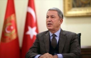 Bakan Akar'dan Barış Pınarı Harekatı şehiti...