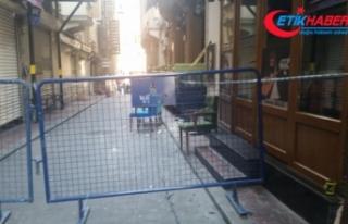 Beyoğlu'nda tarihi bina çökme riski nedeniyle...