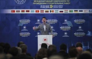 Çevre ve Şehircilik Bakanı Kurum: Türk inşaat...