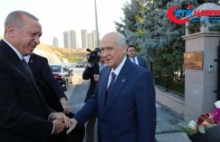Cumhurbaşkanı Erdoğan'dan MHP Lideri Bahçeli'ye...
