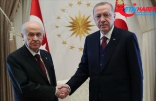 Cumhurbaşkanı Erdoğan, MHP Lideri Bahçeli'ye...