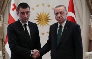 Cumhurbaşkanı Erdoğan Gürcistan Başbakanı Gakharia'yı...