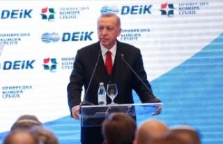 Cumhurbaşkanı Erdoğan: İkili münasebetlerin ilerletilmesi...